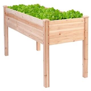 Solid Wood Cedar 30-inch High Raised Garden Bed Planter Box