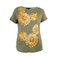 INC International Concepts Women's Sequin Floral Print Top