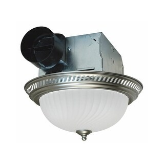 Air King DRLC70 70 CFM 4 Sone Ceiling Mounted Exhaust Fan with Dual Light Sockets