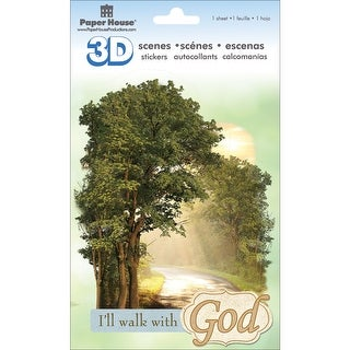 Paper House 3D Stickers-Walk W/God - walk w/god
