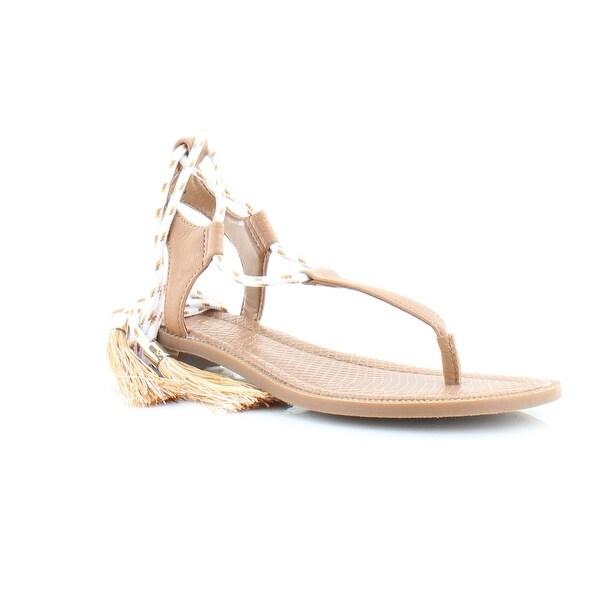 Nine West Gannon Women's Sandals & Flip Flops Dk Natural - 5