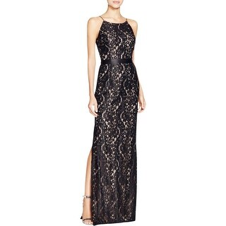 Aidan Mattox Womens Evening Dress Lace Full-Length