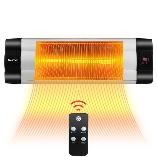 Costway 1500W Infrared Patio Heater Remote Control 24H Timer. Opens flyout.