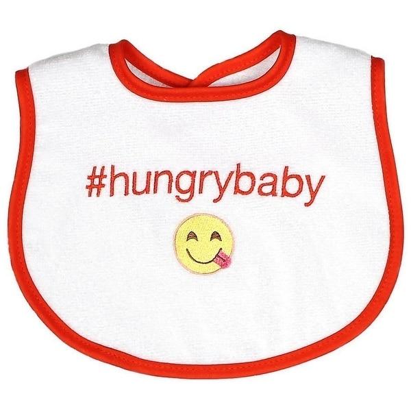 Raindrops Unisex Baby #Hungrybaby Hashtag Bib, Orange - One size