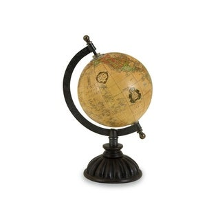 """10"""" Decorative Traditional Spinning Desk Globe with Fluted Base"""
