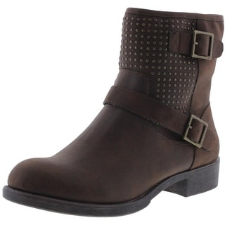 Easy Spirit Womens Yvanna Studded Belted Motorcycle Boots