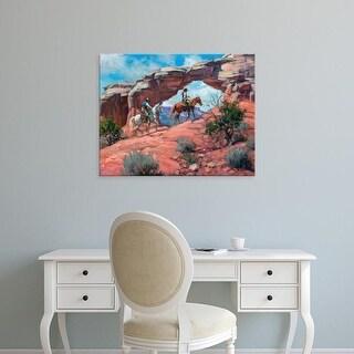 Easy Art Prints Jack Sorenson's 'Between Rocks & Hard Places' Premium Canvas Art