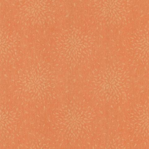 Summer Orange Modern Floral Wallpaper - 20.5in x 396in x 0.025in