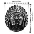 Vienna Jewelry The Indian Chief Stainless Steel Ring - Thumbnail 1