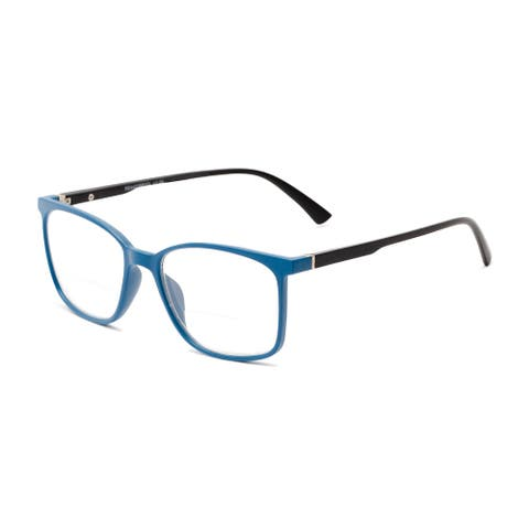 Readers.com The Nola Bifocal Retro Square Reading Glasses