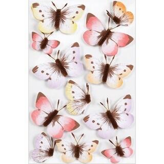 Martha Stewart Stickers-Sunny Days Ombre Butterflies