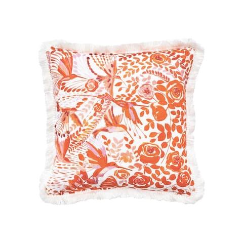 Hummingbird Floral Pillow