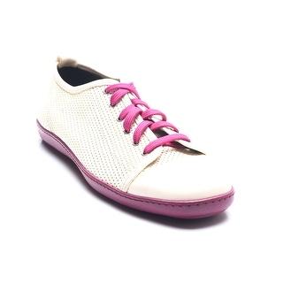 Bruno Magli Men's Goatskin Leather Sneakers Crème Pink