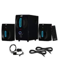 Blue Octave B22 Home 2.1 Powered Speaker System Digital Input and 2 Ext. Cables