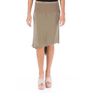 Elizabeth and James Womens Rib Abel Silk Hi-Low A-Line Skirt