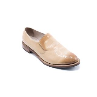 Brunello Cucinelli Gradient Tan Patent Leather Slip Ons - 11