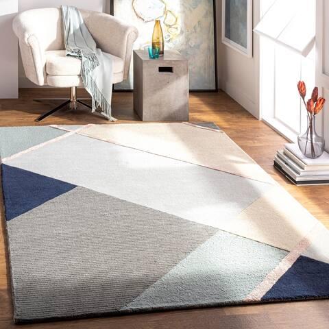 Linque Modern Wool/Viscose Handmade Area Rug