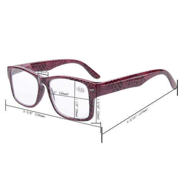 Eyekepper 6-Pack Patterned Reading Glasses Include Computer Readers