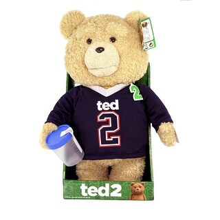 """Ted 2 Movie 16"""" Talking Plush Ted In Jersey With Sound *Explicit* - multi"""