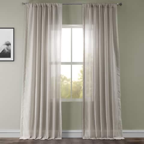 Exclusive Fabrics Tumbleweed Faux Linen Sheer Curtain Panel (1 Panel)