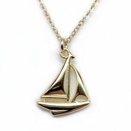 "Julieta Jewelry Sailboat Gold Charm 16"" Necklace"