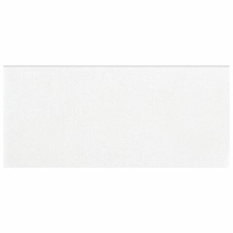 SomerTile 3.5x7.75-inch Thirties White Ceramic Bullnose Floor and Wall Trim Tile