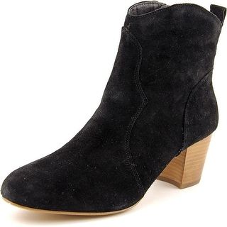 Steve Madden Hipstr Women  Round Toe Suede Black Ankle Boot