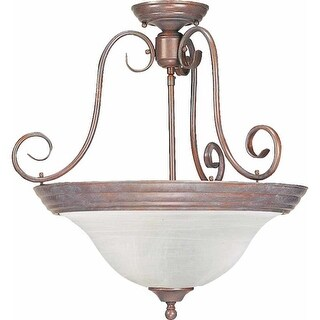 Volume Lighting V2230 Troy 3 Light Semi-Flush Ceiling Fixture