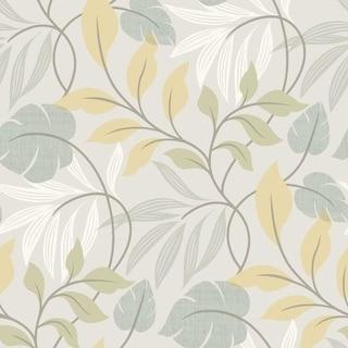 Brewster 2535-20628 Eden Blue Modern Leaf Trail Wallpaper