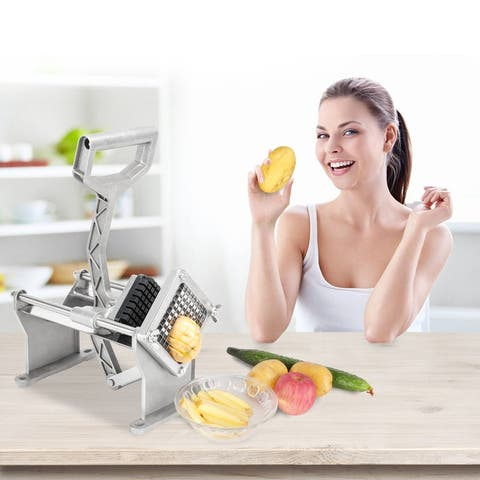 "Vertical French Fries Cutter Fruit Vegetable Potato Slicer with 3/8"" Blade"