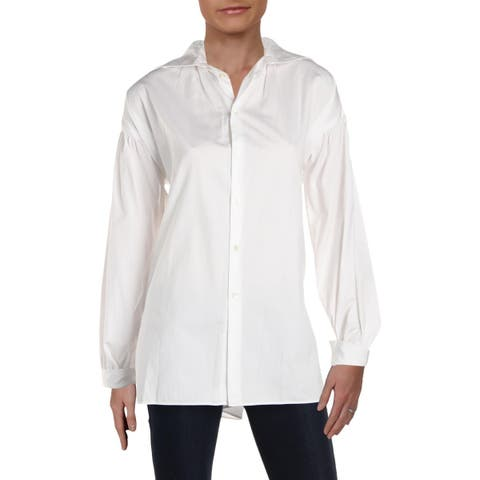 Polo Ralph Lauren Womens Button-Down Top Relaxed Long Sleeves - 2