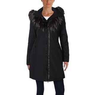 Noize Womens Donna Parka Faux Fur Trim Hooded