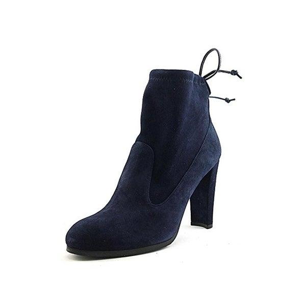 Stuart Weitzman Womens Mitten Ankle Boots Suede Heels