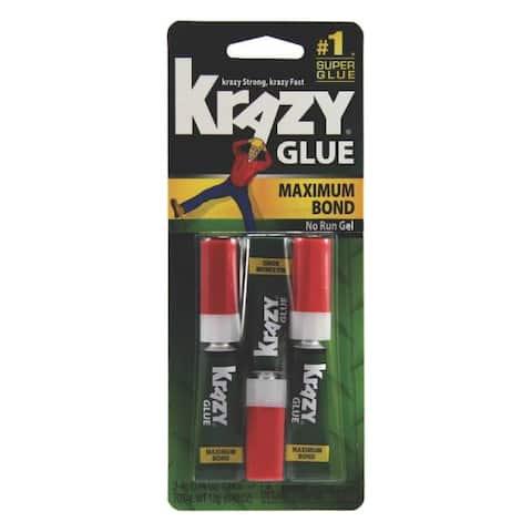 Krazy Glue KG48812 Maximum Bond Super Glue, 4 Oz, Package Of 3