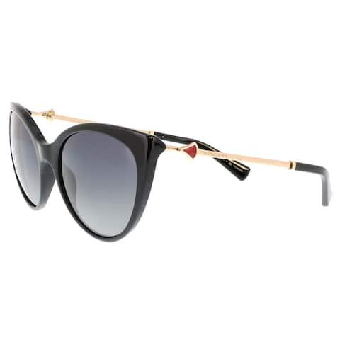 Bulgari BV8195KB 5195T3 Black Cat Eye Sunglasses - No Size