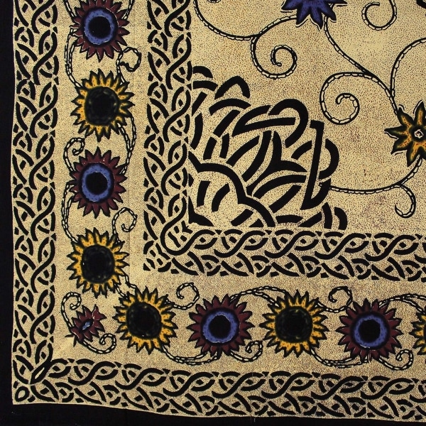 Handmade Cotton Snowflake Batik Paisley Mandala Tapestry Tablecloth Spread Twin