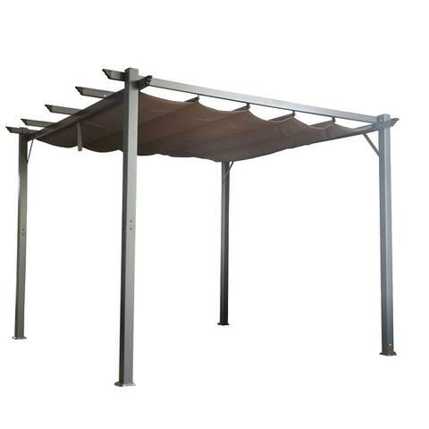 Amarantos Flat Hanging KD Tent Retractable Patio Gazebo/Pergola