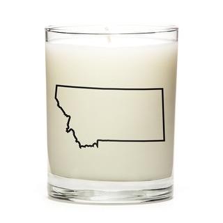 Custom Gift - Map Outline of Montana U.S State, Peach Belini