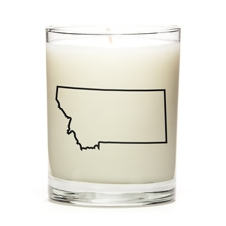 State Outline Soy Wax Candle, Montana State, Peach Belini