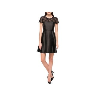 Jessica Simpson Womens Cocktail Dress Embellished Lace