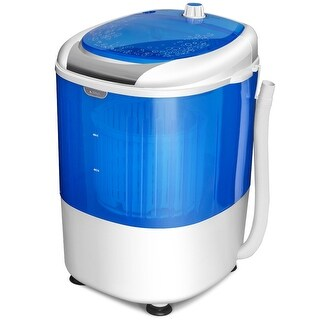 Costway 5.5lbs Portable Mini Compact Washing Machine Electric Laundry Spin Washer Dryer