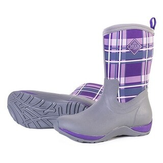 Muck Boot's Arctic Weekend Gray/Acai Plaid - Womens Size 6
