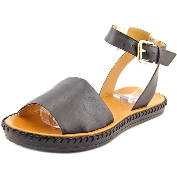 Corso Como Brinkley Women Open-Toe Leather Black Slingback Sandal
