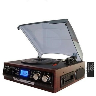 Bluetooth Classic Style Record Player Turntable with AM & FM