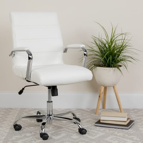 Mid-back LeatherSoft Executive Swivel Office Chair