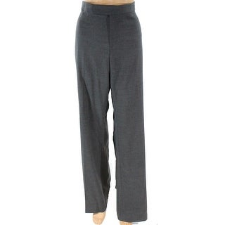 Lauren By Ralph Lauren NEW Gray Womens 16 Tab Front Stretch Dress Pants
