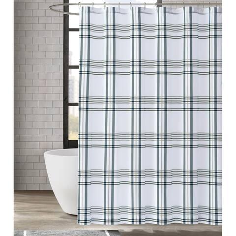 London Fog Kent Plaid Shower Curtain
