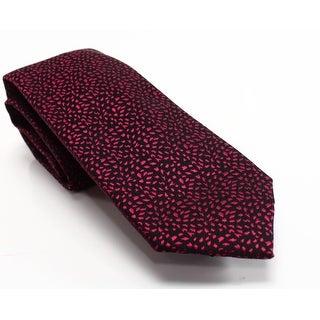 Alfani NEW Red Breton Textured Abstract Men's Slim Skinny Necktie