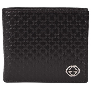 NEW Gucci Men's 233141 Dark Brown Leather Diamante GG Bifold Wallet