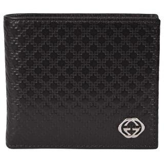 Gucci Men's 233141 Dark Brown Leather Diamante GG Bifold Wallet